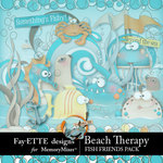 Beach Therapy Fish Friends Embellishment Pack-$3.99 (Fayette Designs)
