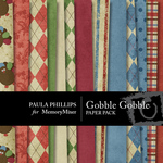 Gobble Gobble Paper Pack-$4.00 (Paula Phillips)