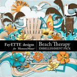 Beach Therapy Embellishments-$2.99 (Fayette Designs)