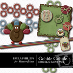 Gobble Gobble Embellishment Pack-$2.00 (Paula Phillips)