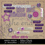 After Dark WordArt Pack-$2.49 (Krista Sahlin)