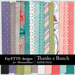 Thanks a Bunch Paper Pack-$2.99 (Fayette Designs)