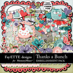 Thanks a Bunch Embellishment Pack-$3.99 (Fayette Designs)