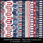 My Little Captain Jack Pattern Paper Pack-$3.49 (Jumpstart Designs)