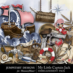My Little Captain Jack Embellishment Pack-$3.49 (Jumpstart Designs)