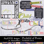 Pocketful of Posies WordArt Pack-$1.25 (Fayette Designs)