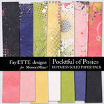 Pocketful of Posies Hotmess Solid Paper Pack-$3.99 (Fayette Designs)