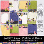 Pocketful of Posies Journal Cards Pack-$1.99 (Fayette Designs)