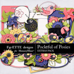 Pocketful of Posies Extras Embellishment Pack-$3.99 (Fayette Designs)