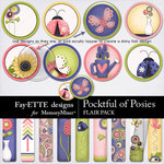 Pocketful of Posies Flairs-$1.99 (Fayette Designs)