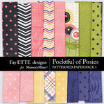 Pocketful of Posies Patterned Paper Pack 1-$3.99 (Fayette Designs)