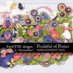 Pocketful of Posies Embellishments-$3.49 (Fayette Designs)