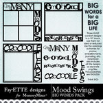 Mood Swings Big Words Pack-$3.49 (Fayette Designs)