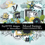 Mood Swings Embellishments-$3.49 (Fayette Designs)