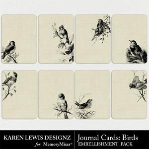Journal cards bird element pack medium