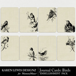 Birds Journal Cards-$2.49 (Karen Lewis)