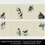 Journal cards bird element pack small