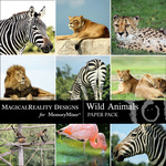 Wild Animals Photo Paper Pack-$1.75 (MagicalReality Designs)