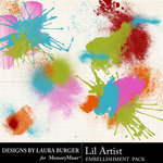 Lil Artist Paint Splatters-$2.49 (Laura Burger)
