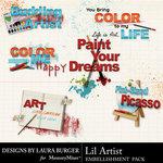 Lil Artist WordArt-$2.49 (Laura Burger)