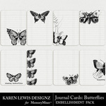 Butterfly Journal Cards-$2.49 (Karen Lewis)