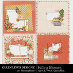 Falling Blossom Quick Pages-$2.45 (Karen Lewis)
