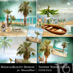 Summer Breeze MR Scenes Paper Pack-$3.99 (MagicalReality Designs)