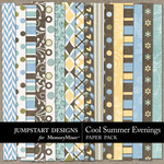 Cool Summer Evenings Pattern Paper Pack-$2.99 (Jumpstart Designs)