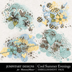 Cool Summer Evenings Scatters-$2.45 (Jumpstart Designs)