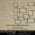 Pristine Chip Board Frames-$2.49 (Amy Teets)