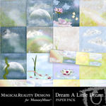 Dream A Little Dream Paper Pack-$3.99 (MagicalReality Designs)