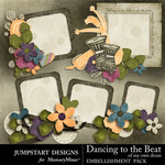Dancing To The Beat of My Own Drum Clusters-$2.49 (Jumpstart Designs)