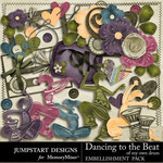 Dancing To The Beat of My Own Drum Add On Embellis-$2.40 (Jumpstart Designs)