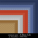 A Boys Life Embossed Paper Pack-$1.99 (Lindsay Jane)
