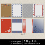 A Boys Life Journal Cards-$1.99 (Lindsay Jane)