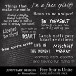 Free Spirits Unite WordArt-$2.49 (Jumpstart Designs)