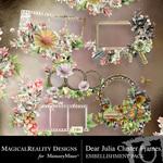 Dear Julia Cluster Frames-$1.99 (MagicalReality Designs)