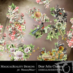 Dear Julia Clusters-$1.99 (MagicalReality Designs)