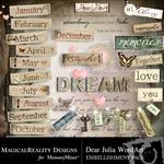 Dear Julia WordArt-$2.49 (MagicalReality Designs)