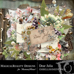 Dear Julia Embellishment Pack-$3.49 (MagicalReality Designs)