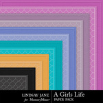 A Girls Life Embossed Paper Pack-$1.99 (Lindsay Jane)