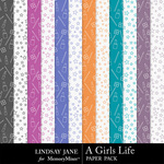 A Girls Life Extra Paper Pack-$1.99 (Lindsay Jane)