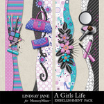 A Girls Life Borders-$1.99 (Lindsay Jane)
