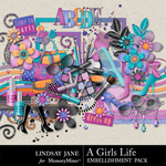 A Girls Life Embellishment Pack-$2.49 (Lindsay Jane)