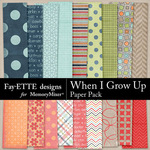 When I Grow Up Patterned Paper Pack-$3.99 (Fayette Designs)