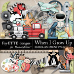 When I Grow Up Embellishments-$3.49 (Fayette Designs)