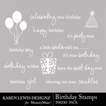 Birthday Stamp Inkers-$1.99 (Karen Lewis)
