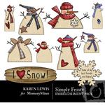 SimplyFrosty Embellishment Pack-$3.50 (Karen Lewis)