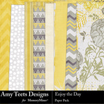 Enjoy The Day Paper Pack-$3.49 (Amy Teets)