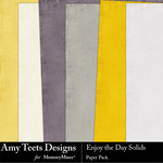 Enjoy The Day Solid Paper Pack-$3.49 (Amy Teets)